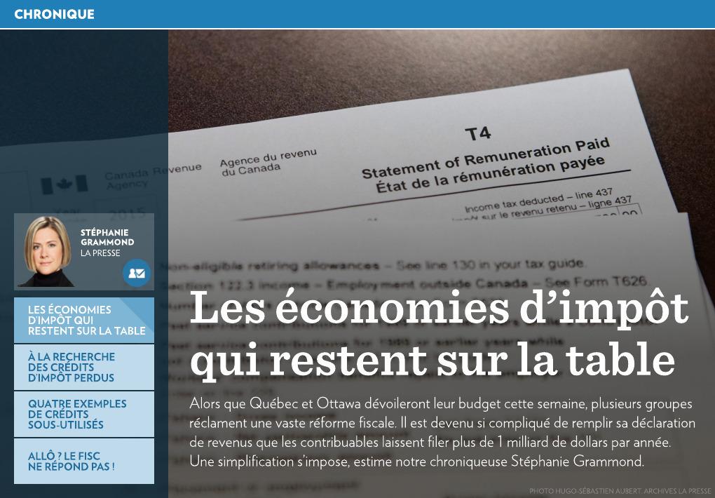 Les Economies D Impot Qui Restent Sur La Table La Presse