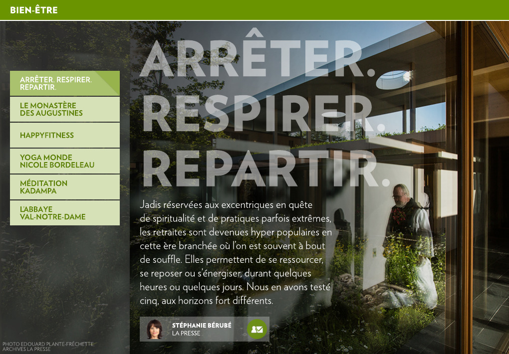 Arreter Respirer Repartir La Presse