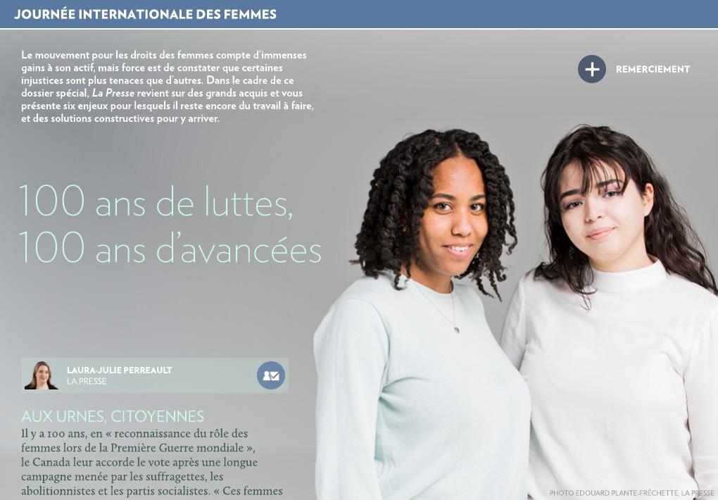 premium selection b0a61 2aae5 100 ans de luttes, 100 ans d avancées - La Presse+