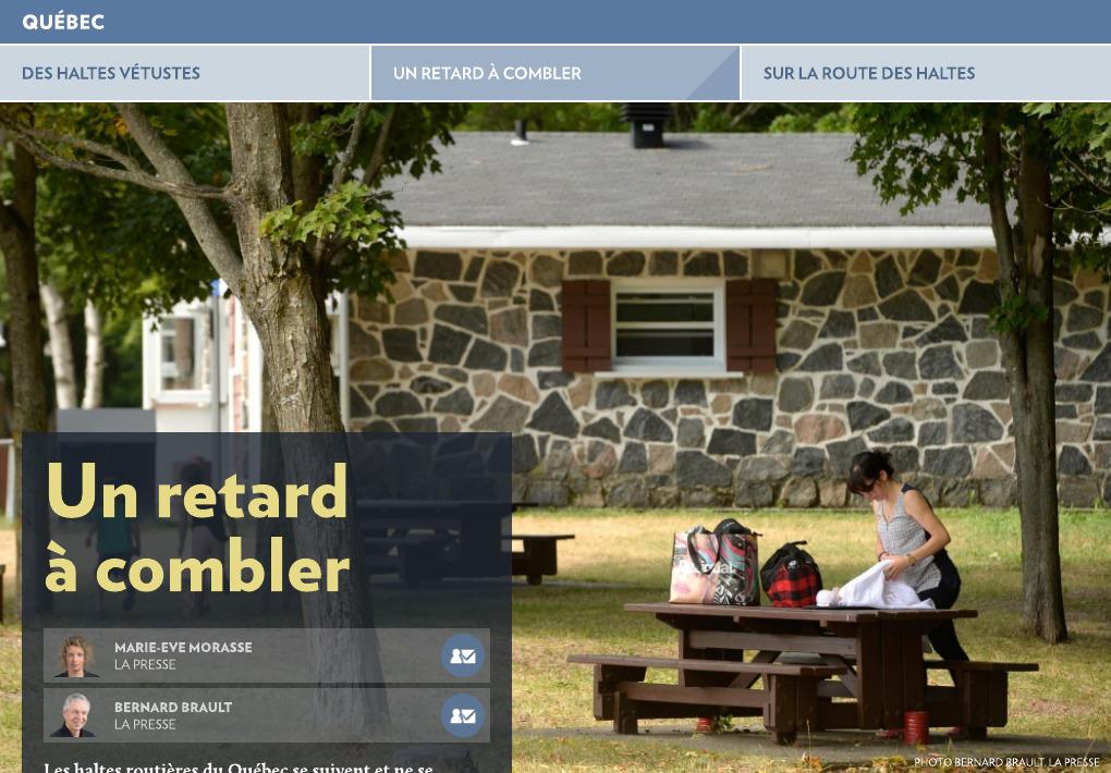 Condition Routiere Quebec >> Des Haltes Vetustes La Presse