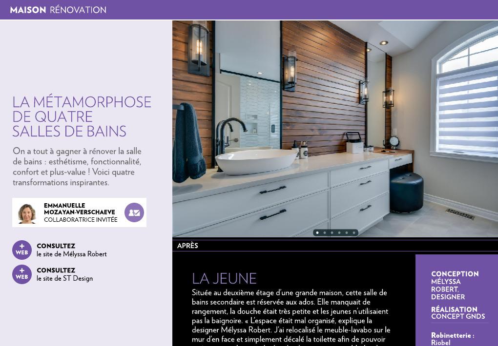 La métamorphose de quatre salles de bains - La Presse+