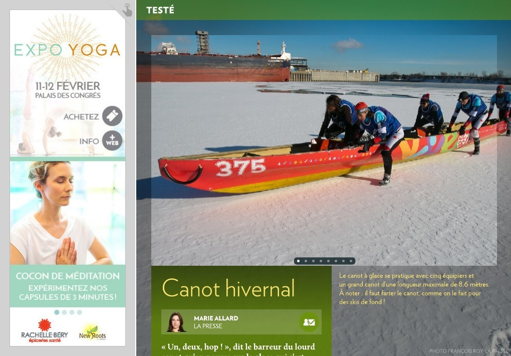 Canot hivernal – La Presse+