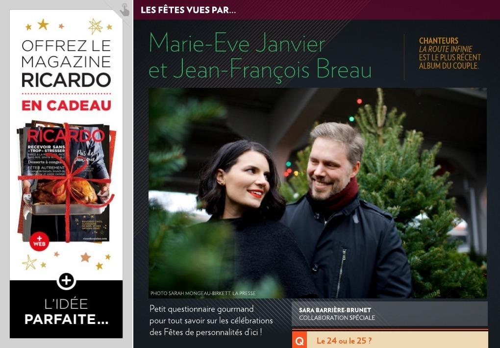 Libre : Marie-Ève Janvier et Jean-François Breau lancent
