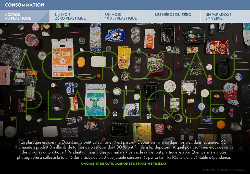 8739bec194 Accros au plastique - La Presse+