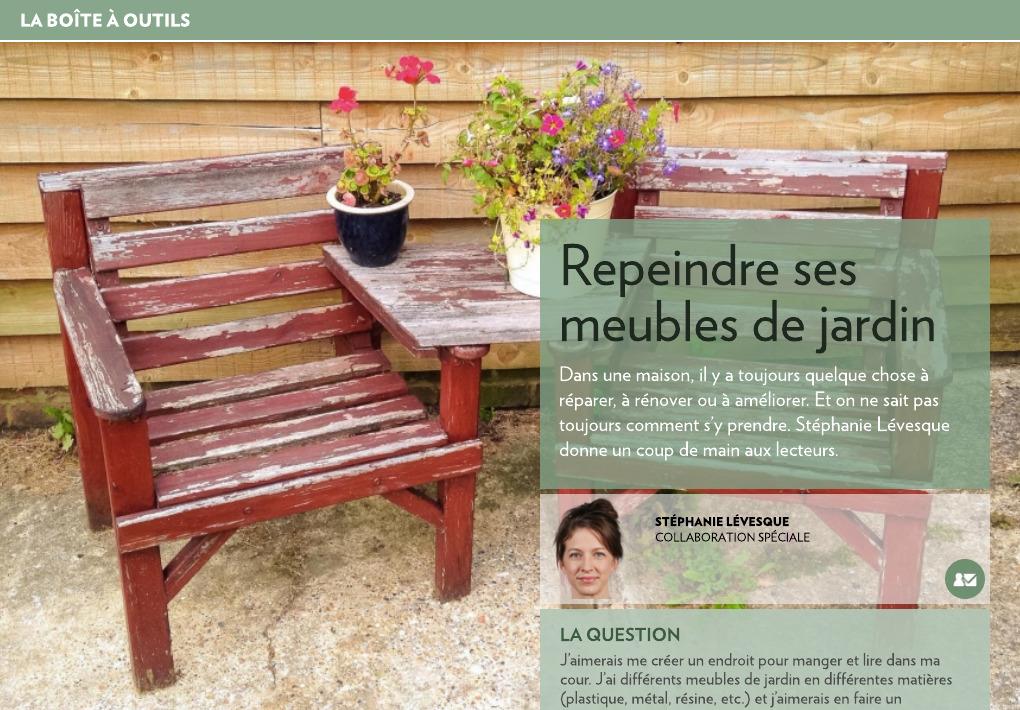 Repeindre ses meubles de jardin - La Presse+