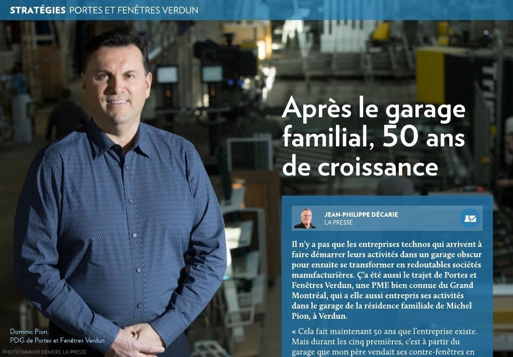 Apr s le garage familial 50 ans de croissance la presse for Porte et fenetre verdun montreal