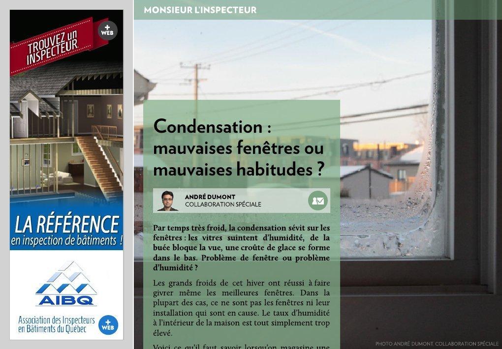 Condensation  Fentres Ou Mauvaises Habitudes   La Presse