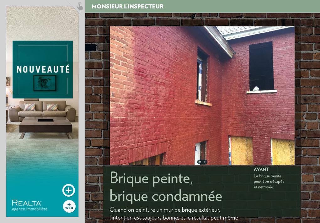 brique peinte brique condamn e la presse. Black Bedroom Furniture Sets. Home Design Ideas