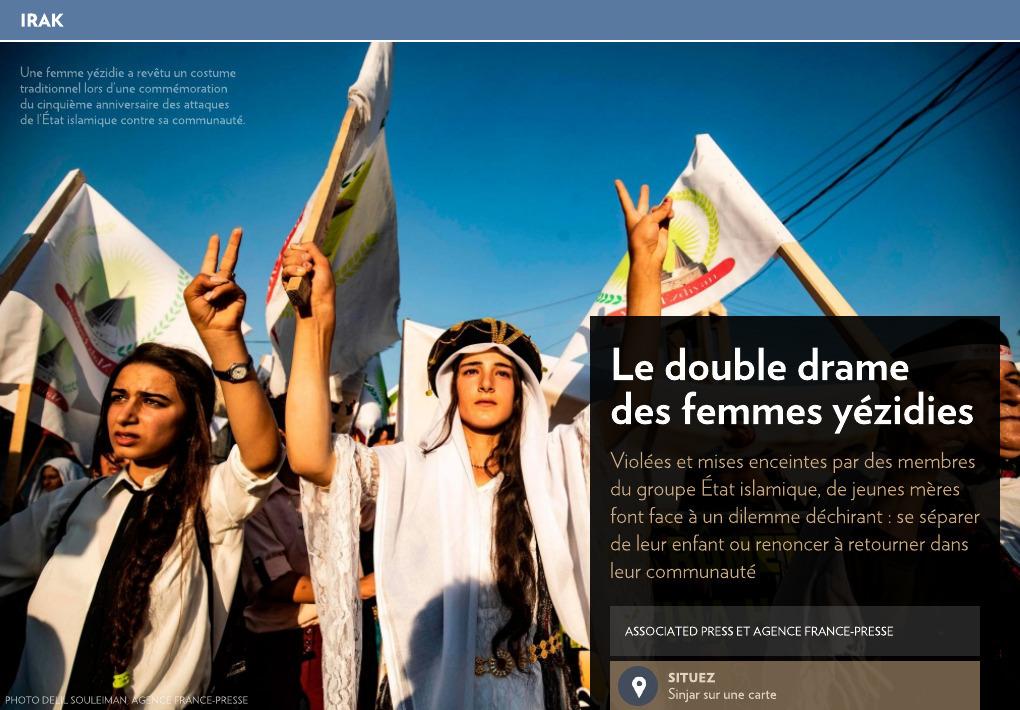 Double Drame Le Yézidies Presse La Des Femmes 8wnkZ0XOPN