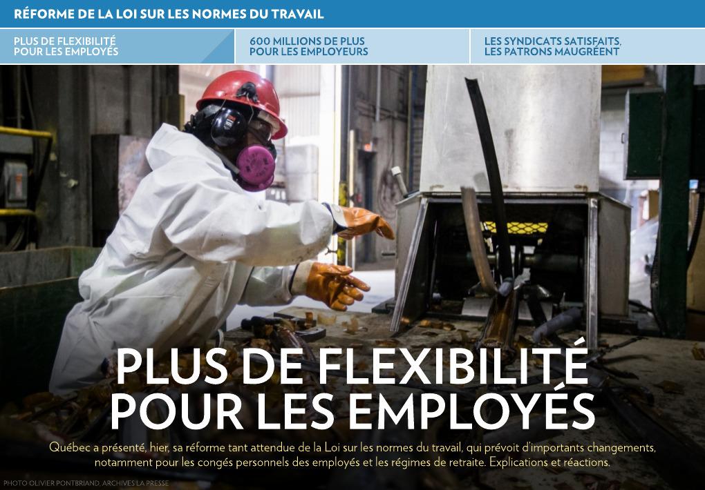 Plus De Flexibilite Pour Les Employes La Presse