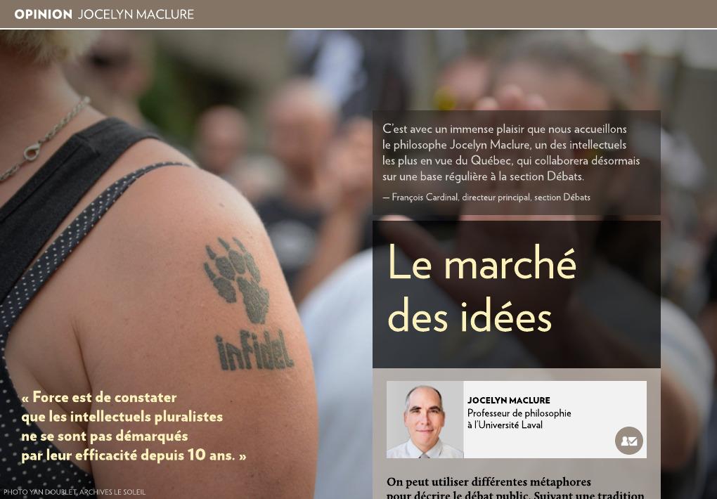 Le marché des idées   La Presse+