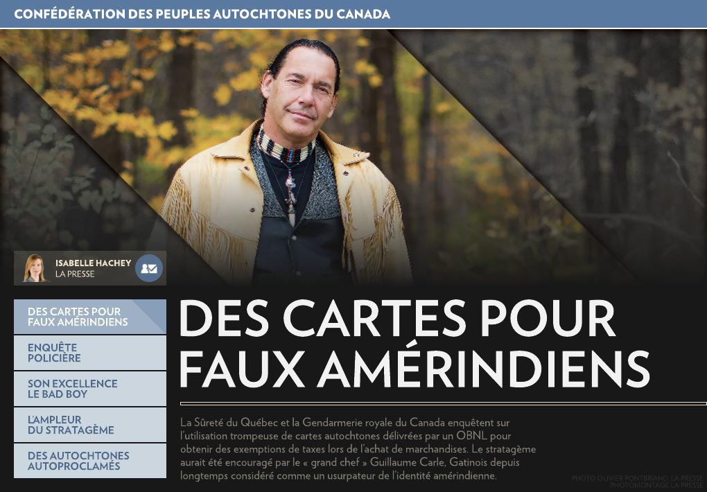 Carte Indien Canada Avantage.Des Cartes Pour Faux Amerindiens La Presse