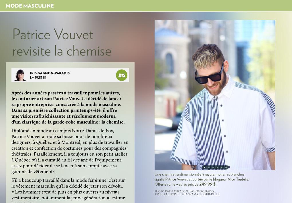 Vouvet Chemise Presse La Revisite Patrice Ym7bfI6vgy