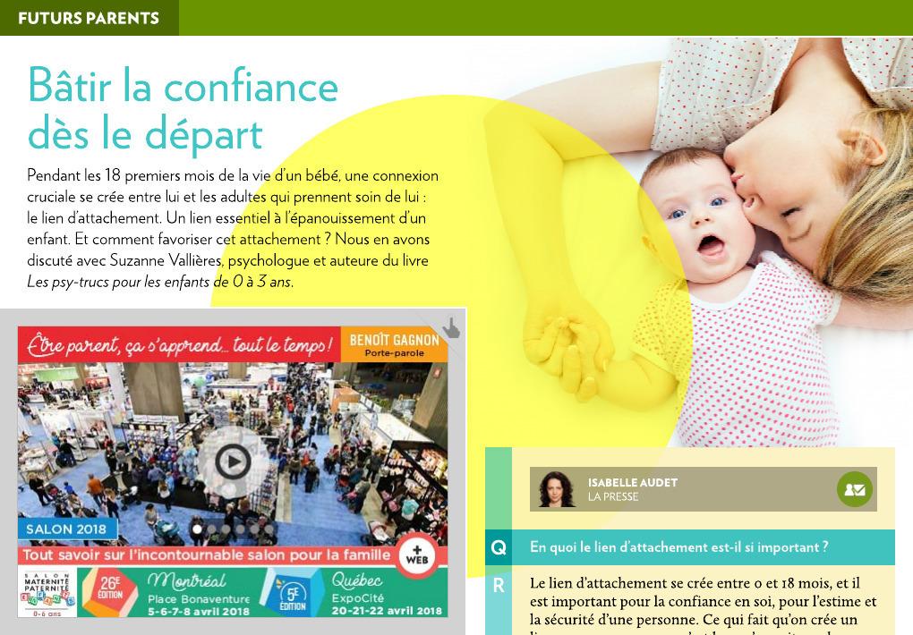Batir La Confiance Des Le Depart La Presse